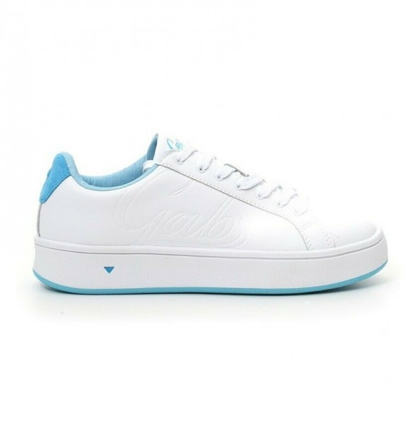 sneaker white light blu