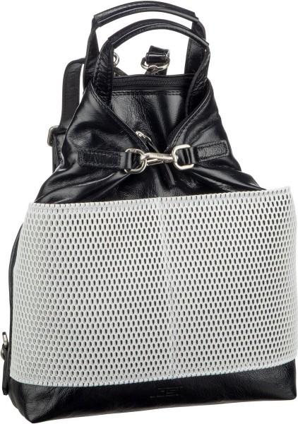 Rucksack s mit Vortasche Leder