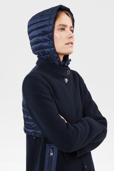 Mantel Blau Wolle